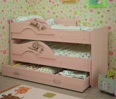 Радуга-Сафари Выкатная кровать 1,6 с ящиком