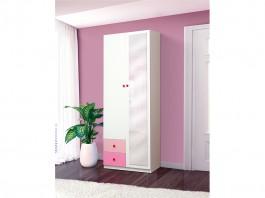 Радуга Шкаф 2-х дверный с ящиками и зеркалом