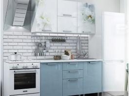 Бьянка Кухня 1,5 м. голубая