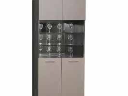 Калипсо Ш2 шкаф 2-х створчатый со стеклянными дверцами