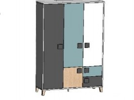 Димика Ш3 шкаф 3-х створчатый