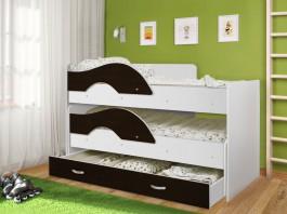 Кровать Матрешка-радуга венге