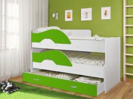 Кровать Матрешка-радуга зеленый