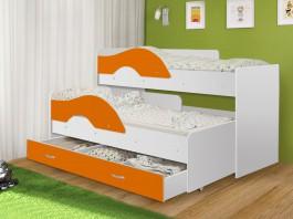 Кровать Матрешка-радуга оранжевый