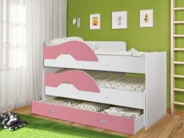 Кровать Матрешка-радуга розовый