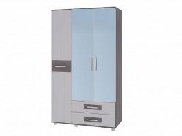 Вега М-4 Шкаф 3-х дверный с ящиками и зеркалом