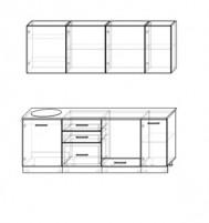 Кухня Акцент-Лофт-1 прямая 2200 мм.
