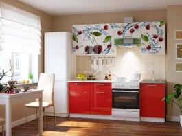 Кухня Вишня 2,1 м.