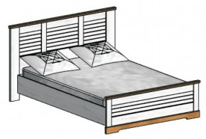 Кантри Каркас кровати 1600 мм.