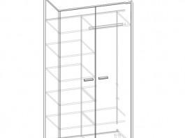 Амели Ш2 шкаф 2-х створч.