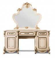 Оливия Туалетный стол + пуфик + зеркало