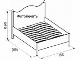 Джулия 16 Кровать 1600 мм.