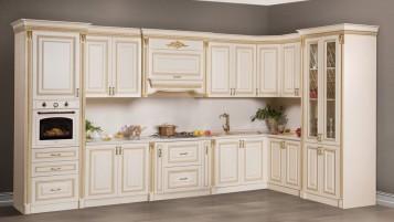 Кухня Аманта угловая бежевая (левая/правая)