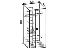 Космо Ш1 угловой шкаф левый/правый