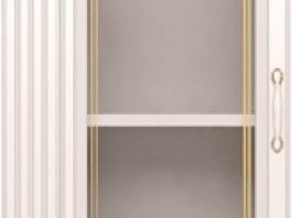 Виктория №17 Шкаф для белья со стеклом (Левый)