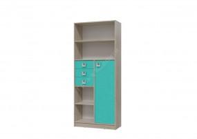 Сити Шкаф-стеллаж с дверкой и ящиками