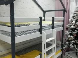 Кровать Сонечка домик 2 ярусный