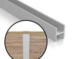 Планка щелевая для стеновых панелей 4 мм