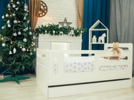 Кроватка-манеж горизонтали с ящиком ЛДСП