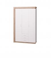 Люмен №15 Шкаф для одежды с ящиками 3-х дверный без зеркал
