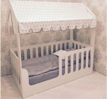Детская кровать-домик ЛДСП белый