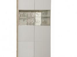 Энни Ш2 шкаф 2-х створчатый со стеклянными дверцами