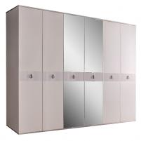 Rimini Solo Шкаф 6-ти дв. (с зеркалами) для платья и белья РМШ1/6 (s)