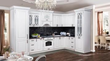 Кухня Ариана угловая серебро