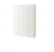 Твист №16 Шкаф для одежды с ящиками 4-х дверный глухой