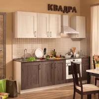 Кухня КВАДРА 2400 метабокс, без плинтуса, без доводчиков