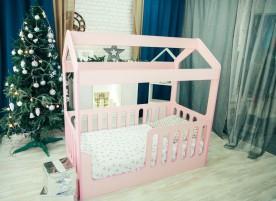 Детская кровать-домик ЛДСП розовый