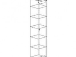 Инна 602 Шкаф для посуды стеклянный