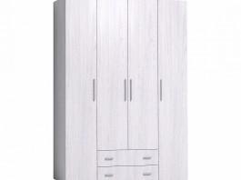 Монако 555 Шкаф для одежды и белья Стандарт Ясень Анкор светлый