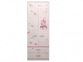 Принцесса №20 Шкаф для одежды с ящиками