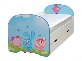 Кровать детская Смешарики с ящиком