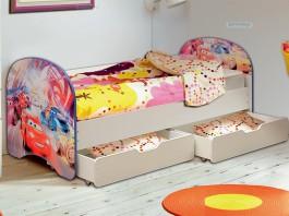 Кровать детская Тачки с ящиком