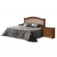 Карина 3 Кровать с ПМ 1600 мм. (1 спинка - шелкография + мягкий элемент)