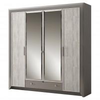 Фьорд №158 Шкаф для платья и белья 4-дв