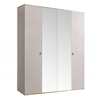 Римини (Rimini) Шкаф 4-х дв. (с зеркалами) для платья и белья РМШ1/4