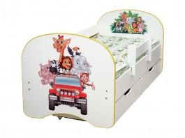 Кровать детская Зоопарк с ящиком
