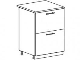 Ксения ШН2Я 600 шкаф нижний с 2 ящиками