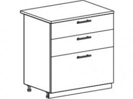 Ксения ШН3Я 800 шкаф нижний с 3 ящиками