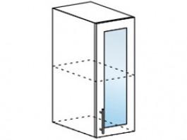 Ксения ШВС 300 шкаф верхний со стеклом
