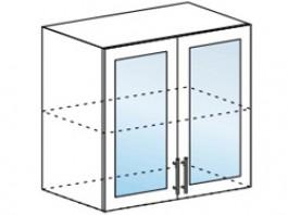 Ксения ШВС 800 шкаф верхний со стеклом