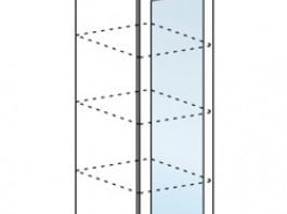 Ксения ШВПС 400 пенал настольный со стеклом