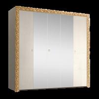 Тиффани Премиум ТФШ1/5(П) Шкаф 5-дверный с зеркалом